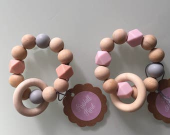 Teething toys silicone beads baby