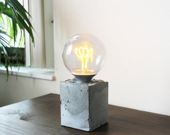Concrete Accent Lamp, Cement table Light
