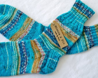 Hand Knitted Ladies Socks UK size 4.5 - 5.5, Casual Socks, Boot Socks, Bed Socks