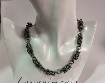 Chainmail Choker gray/grey chainmail necklace