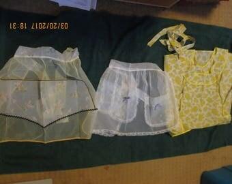 Three vintage aprons (smock)