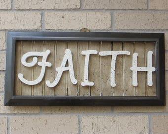 FAITH = Framed Picture, Inspirational. Christian