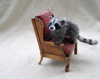 OOAK Miniature Raccoon by Malga