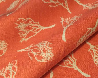 Coral Fabric Beach Ocean Sand Manzanita Branch by Joel Dewberry for FreeSpirit By the HALF yard or Yardage 100% Quality Cotton