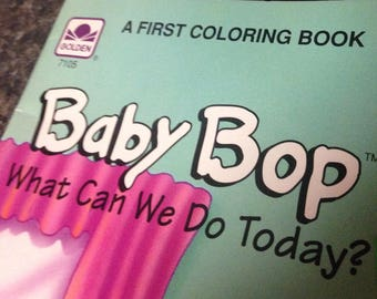 Vintage Baby Bop Coloring book/1993/new old stock Baby Bop coloring book/childs Golden coloring book/CLEARANCE