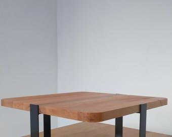 Coffee table, oak, industrial, solid wood