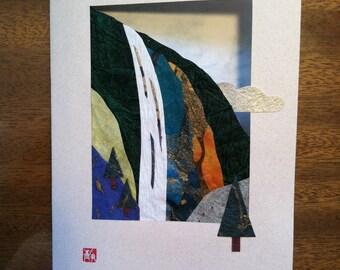 Handmade Origami Waterfall Card