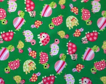 Soft Green Turtle Fabric