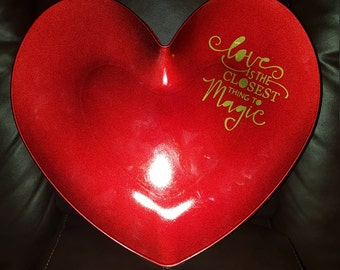 Heart Charger Plate Decoration