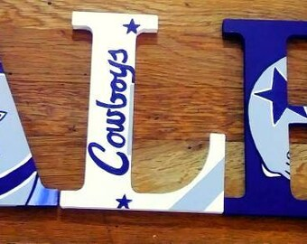 Dallas cowboy's name letters for child's room or man cave