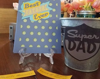 Dads Day Steel Bucket gift