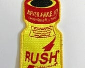 Rush poppers patch.
