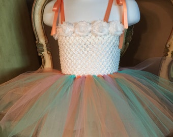 Easter spring tutu dress pastel colors
