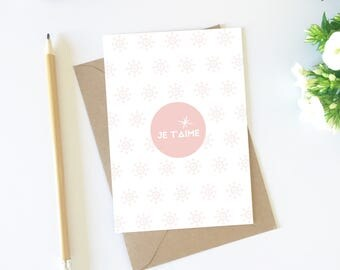Card greeting card, love, pink, card, cute card, postcard, I love decorating idea, love, stationery