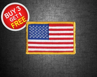 American Flag Patches Flag Patches Patch Iron On Patch Embroidered Patches