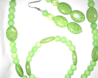 Necklace, Earrings & Bracelet Set