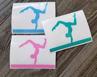 Gymnast Vinyl Decal