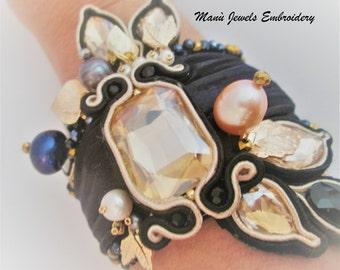 shibori soutache bracelet