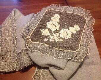 Plaid wool cashmere fleece blanket 100%