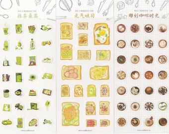 Bread/Matcha/Coffee Planner Stickers