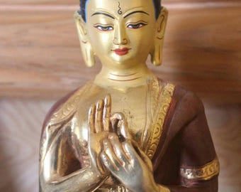 "8"" Inch Viarochana Buddha Statue - Supreme and Eternal; The Radiant One"