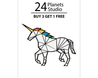 Unicorn Iron on Patch by 24PlanetsStudio