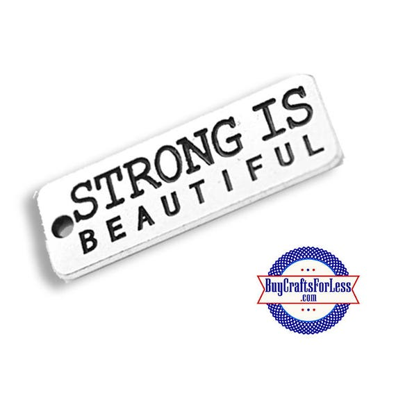 STRONG Affirmation Charms, 4 pcs  **99cent shipping-FREE with orders 10 dollars+**