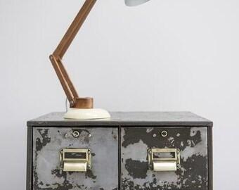 Vintage Industrial Bank of 4 Metal Engineers Workshop Drawers/Filing Index Cabinet.