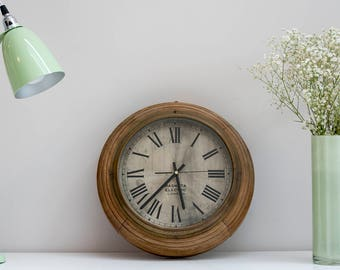 Vintage Factory or Office Wall Clock Made In England by well known Clock Maker Magneta London .C.1940