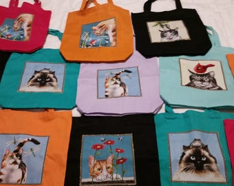 Tote Bag - Many Faces of Cats