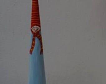 Snowman, Paper Mache, Sculpture, Unique Guift,Winter,Christmas