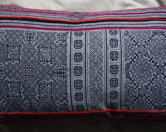 Hmong series 4: cushion, 30x50cm (12 x 20), cotton, batik Hmong.