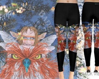 Friends of Flight - Leggings - Fairy Owl