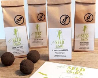 Seedbombs flowers package - 4 types x 3 Seedballs