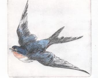 """Original print """"Swallow"""""""