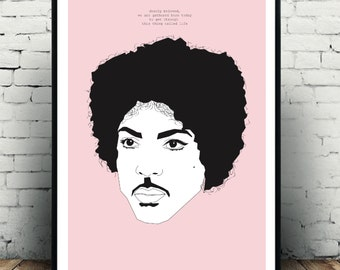 Iconic Prince wall art poster/fashion print/art poster, A3 in size for the home! Great for a prince fan! Great piece of art for home decor!