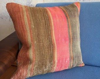 Kilim cushion 43 x 42 cm. Kilim apartment Berlin. Kilim rug cushion pillow Kilimpillow