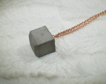 Chain with concrete cube