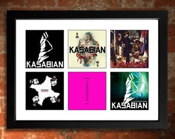 KASABIAN Vinyl Albums Unframed Art Print Mini Poster