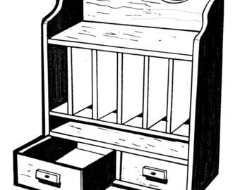 Desk Organizer #154 - Woodworking / Craft Pattern