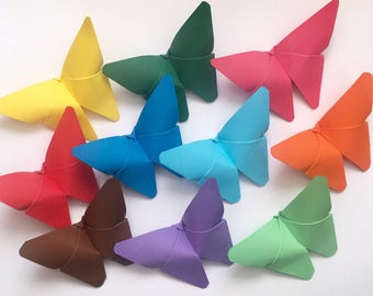 Paper butterflies , origami butterflies , butterflies for decoration