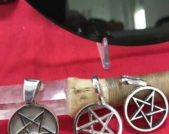 Pentagram Inverted 999 Silber