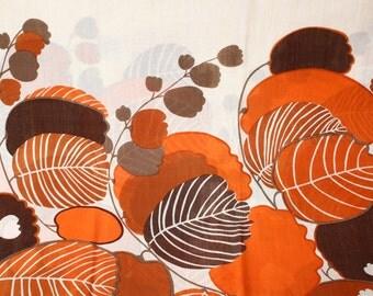 Vintage german - JAB ANSTOETZ - 1960s design - BOULEVARD - decoration fabric-leinen poly blend -.