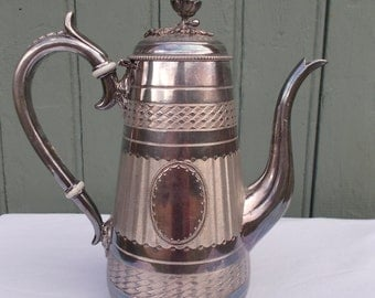 French Silver Plated  Coffee Pot Armand Frenais
