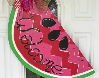 Watermelon welcome door hanger