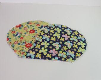 Butterflies and birds burp cloth