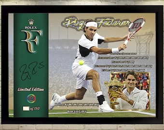 Roger Federer signed autographed Tennis Memorabilia A Framed photo picture Gift