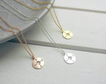 COMPAS COIN gold filled necklace