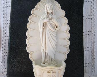 Holy Water Font, Porcelain Sacred Heart
