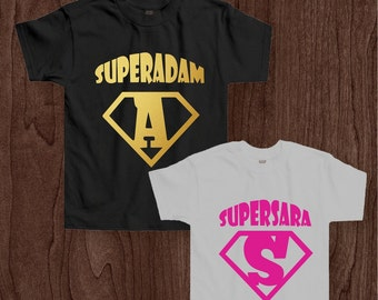 Personalised Superhero tshirt for children
